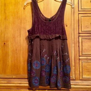 Free People Embroidered Lace Top NWOT